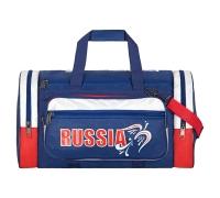 "Спортивная сумка №7, ""Capline"", молния №10, ткань нейлон синий"